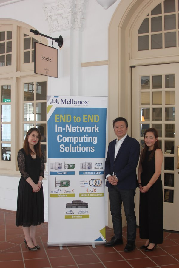 From left: Jolene Low, Regional Manager for Singapore, Taiwan and Philippines; Charlie Foo, Vice President and General Manager for Asia Pacific; Ann Toh, Regional Partner Manager for ASEAN, Mellanox Technologies