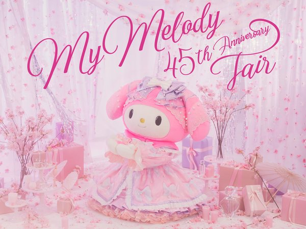 My Melody 45th anniversary fair Main Visual