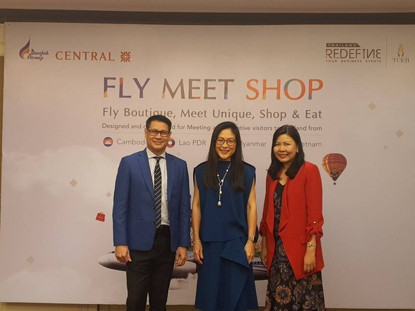 "TCEB in partnership with Bangkok Airways and Central Department Store introduce ""Fly, Meet, Shop"" campaign for CLMV corporate travel markets"