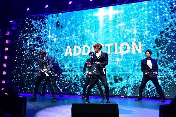 Japanese Group, Addiction enjoying their performance, at the Gala. They are one of the few broadcasters who have signed with Universal and is expected to shoot to fame in the near future.