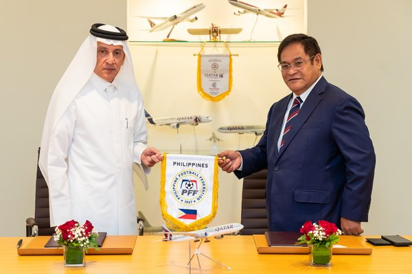 Official Signing Ceremony Between Qatar Airways and the Philippine Football Federation