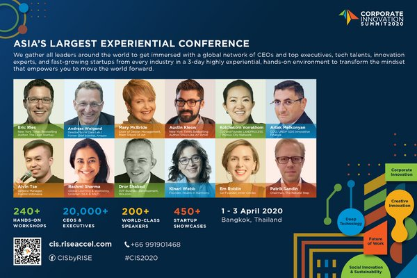 Corporate Innovation Summit 2020 - Asia's Largest Experiential Conference I 1 - 3 April 2020 I Bangkok, Thailand