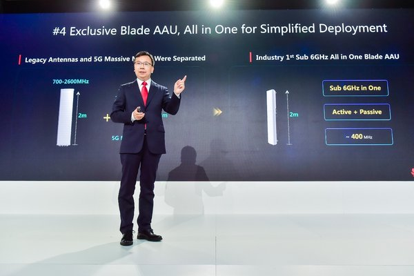 Yang Chaobin Unveils Huawei 5G 10 Key Enablers in London