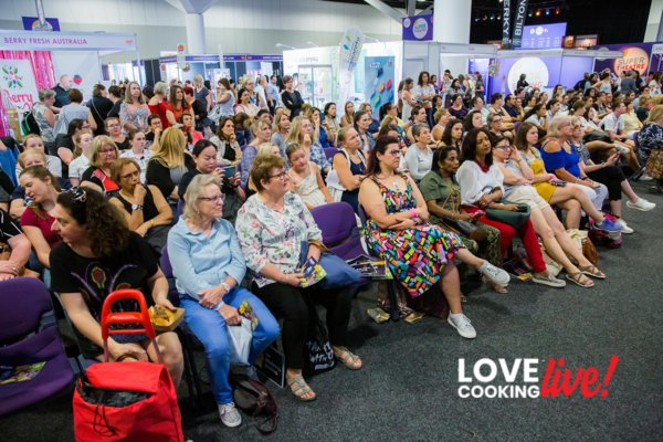 Our lovely audience watching a live demo at Love Cooking Live!