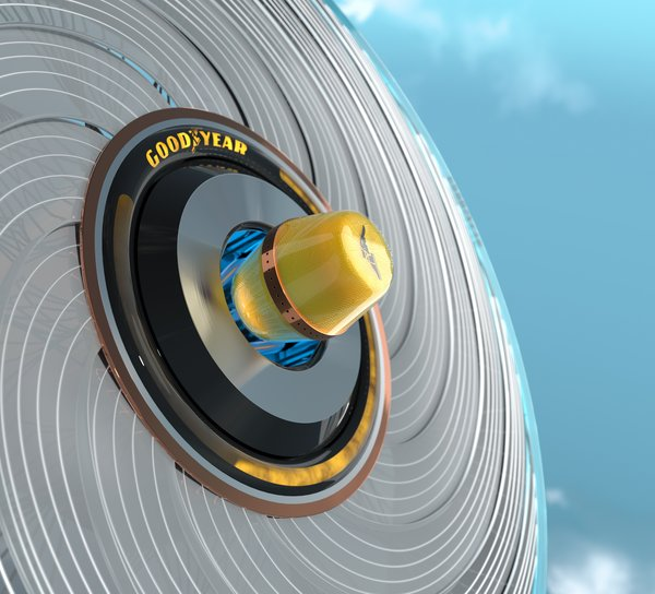 The Goodyear reCharge Concept - Making Tire Changing Easy with Customized Capsules that Renew your Tires