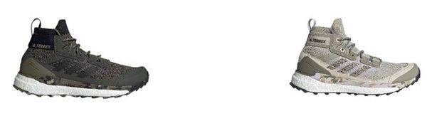 (左)TERREX FREE HIKER;EF0774;建议零售价:RMB 1,399 (右)TERREX FREE HIKER W;FW5665;建议零售价:RMB 1,399