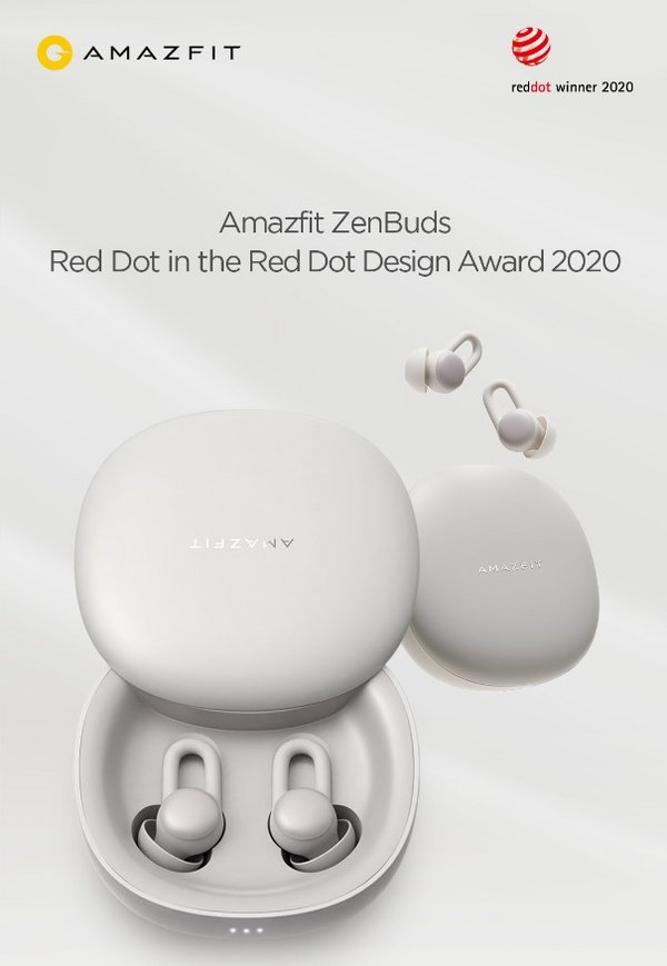 Amazfit ZenBuds Won Red Dot in the Red Dot Design Award 2020 in the Week of World Sleep Day