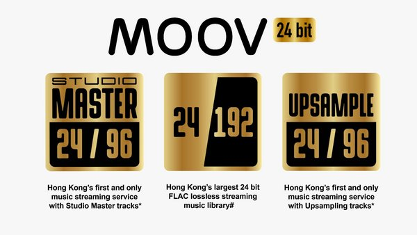 MOOV introduces Hong Kong's first 24 bit FLAC lossless streaming service