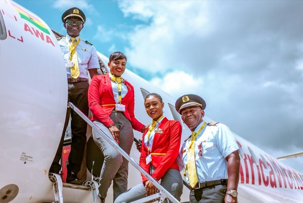 Africa World Airlines' official publicity photo