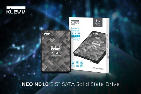 "KLEVV Builds on New SSD with Enhanced Line-up: Introducing NEO N610 2.5"" SATA & CRAS C710 M.2 NVMe SSDs"