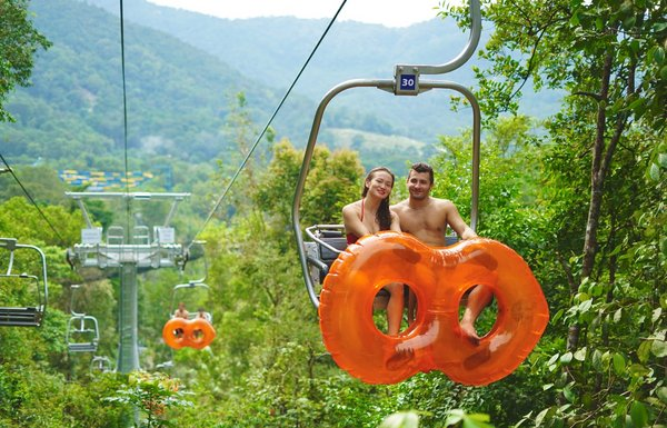 Chairlift at ESCAPE Gravityplay in Penang, Malaysia.