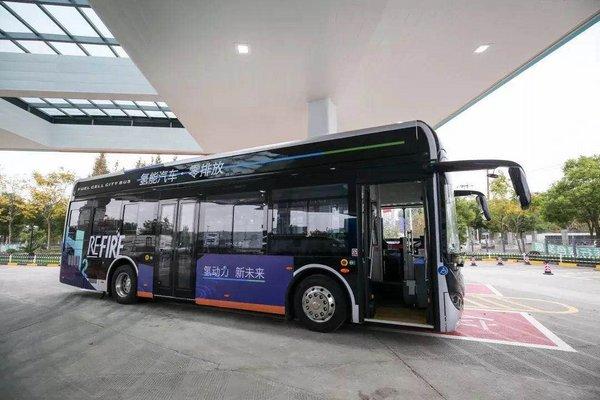 重塑科技与丰田汽车、苏州金龙合作首批氢燃料电池公交车在常熟投运