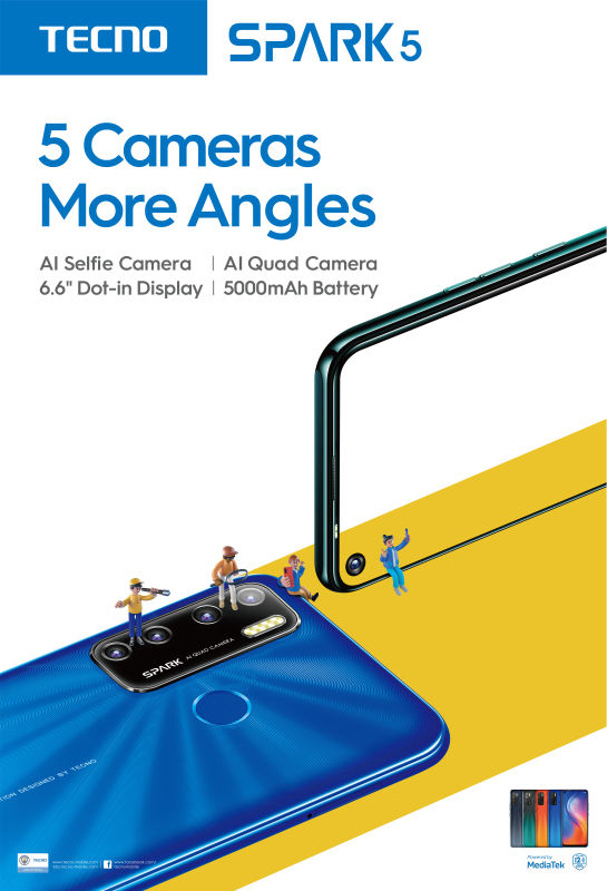 TECNO Mobile launches the groundbreaking five camera-equipped Spark 5