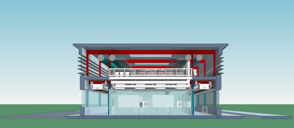 Exyte_Vaccine Production Plant_Cross Section
