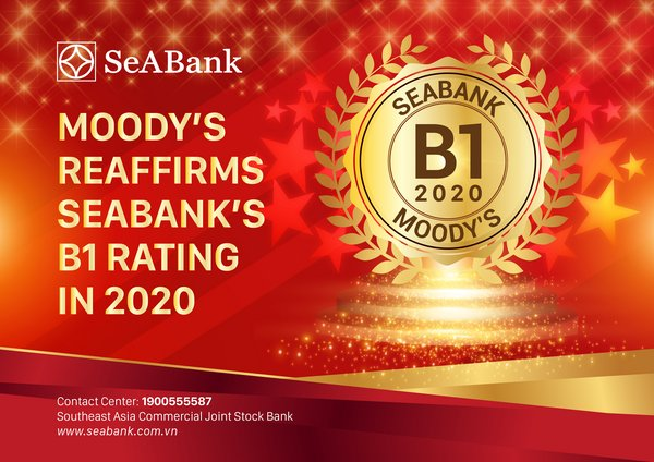 SeABank Maintains B1 Rating from Moody's in 2020