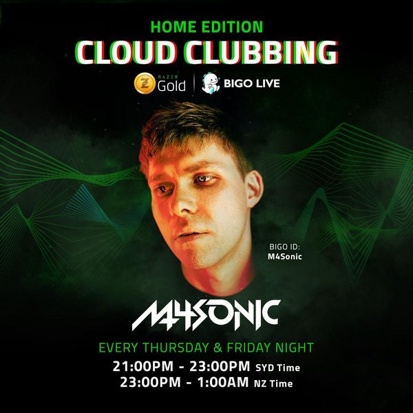 M4Sonic Spins on Bigo Live to EDM Fans' Delight