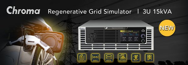 New 3U Height 15kVA Grid Simulator Upgrades Testing to a Higher Level