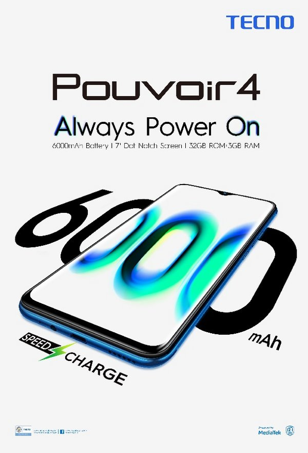 TECNO Mobile unveils the Pouvoir 4 for the local market gaming and video creator community