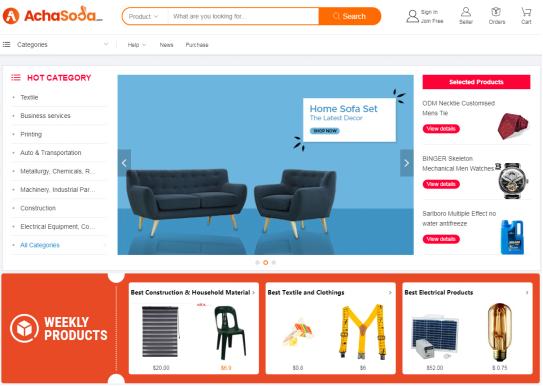 Screenshot of Achasoda.com
