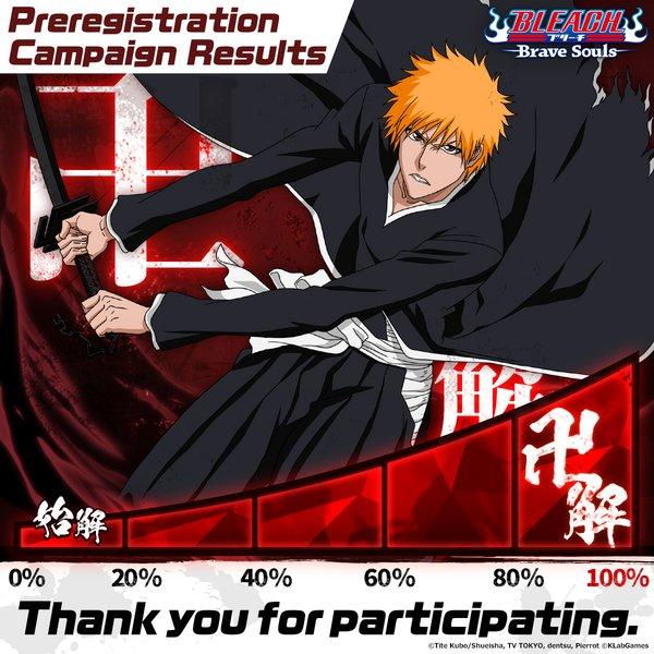 """Bleach: Brave Souls"" New Release in Asian Regions Today and Special Campaigns Start"