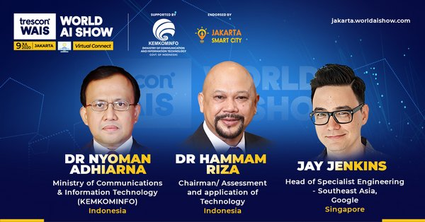 World AI Show - Jakarta 2020 organized by Trescon, to gather the most influential voices in artificial intelligence this July