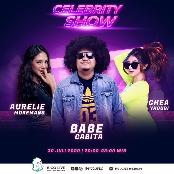 Catch Babecabiita, Aurélie Moeremans and Gheayoubi on Bigo Live this 30 July