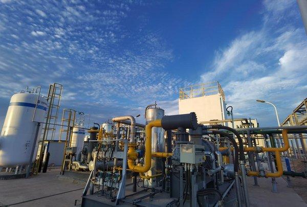 中科富海公司研发的BOG提氦装置现场图