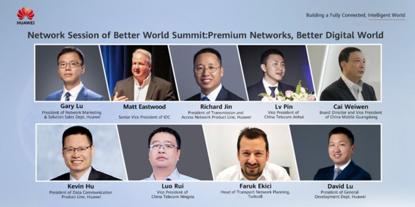 Keynote speakers from IDC, China Telecom Anhui, China Mobile Guangdong, China Telecom Ningxia, Turkcell, and Huawei