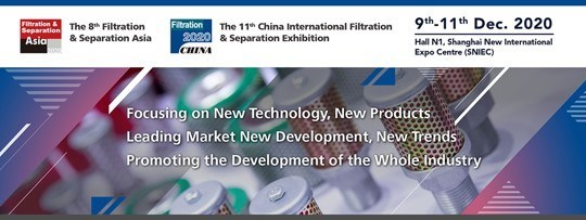 The 8th Filtration & Separation Asia (FSA2020) will be held in December and is more than 80% booked