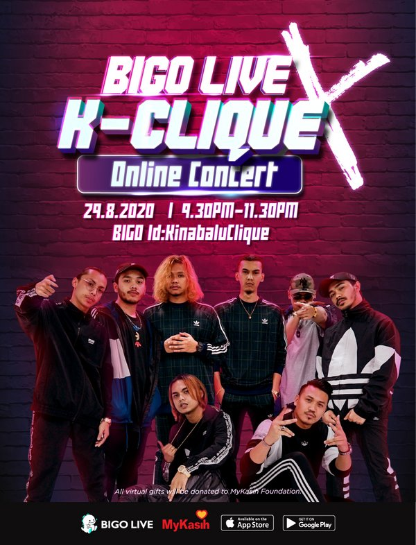 Popular hip hop group K-Clique will hold a virtual concert exclusively on Bigo Live
