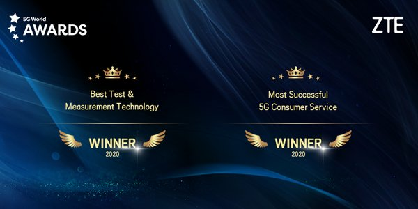 ZTE คว้ารางวัล Best Test & Measurement Technology และ Most Successful 5G Consumer Service ในงาน 5G World 2020