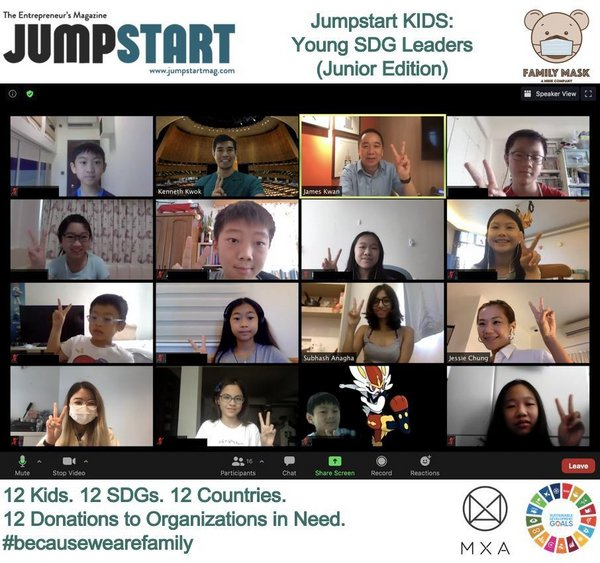 Photo 1: Sessions of Jumpstart Kids were held over Zoom due to the circumstances of COVID-19