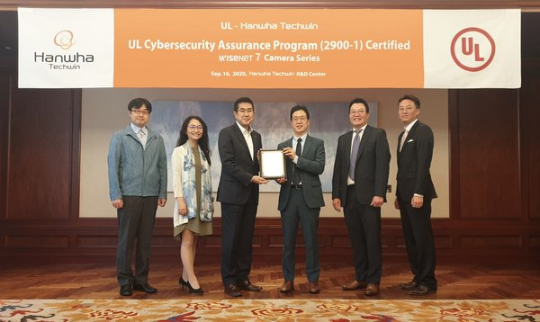 Hanwha Techwin's 'Wisenet7' video surveillance cameras acquired international cybersecurity certification 'UL CAP'