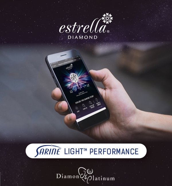 Diamond & Platinum Adopts Sarine Light Performance Diamond Report for its Estrella Diamond Collection in Malaysia and Brunei
