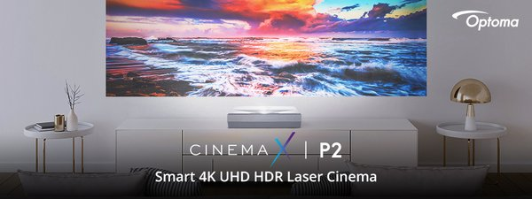 Optoma Expands Premium CinemaX Series with P2, Smart True 4K Ultra Short Throw Laser Projector