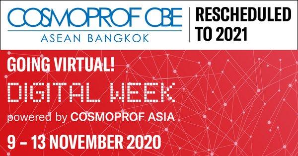 首届COSMOPROF CBE东盟美容展延期至2021年9月
