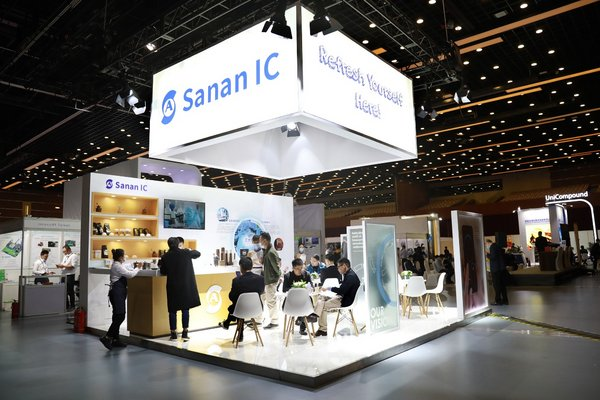 Sanan IC Stand at EDI CON China 2020